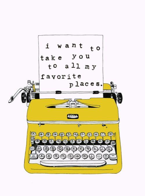 Typewriter print.